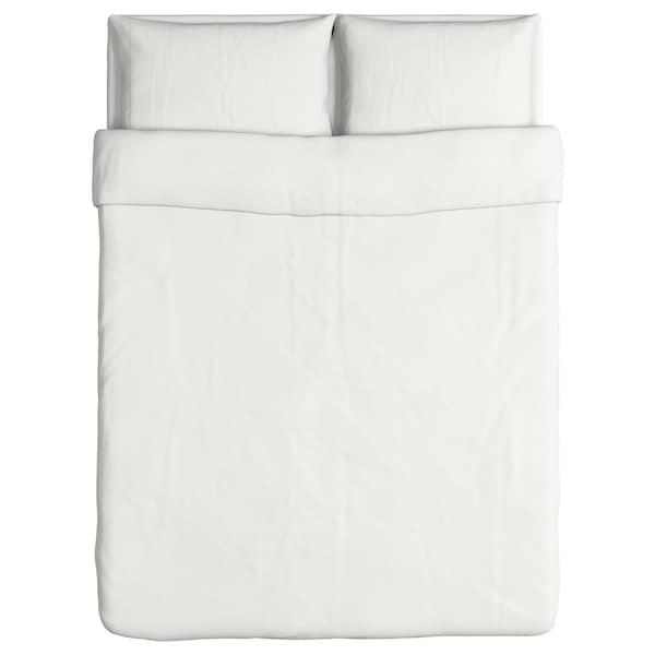 DVALA Duvet cover and 2 pillowcases, white, 200x200/50x80 cm