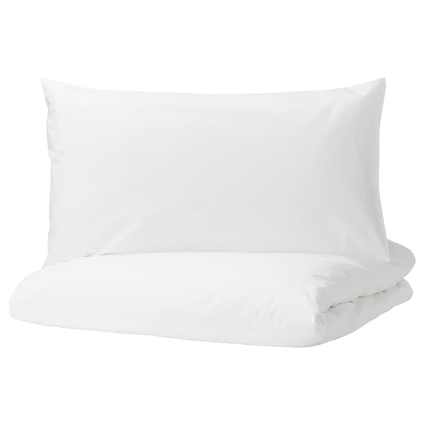 DVALA quilt cover and 2 pillowcases white 152 /inch² 2 pieces 220 cm 240 cm 50 cm 80 cm