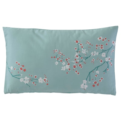 EKBLADMOTT Cushion, green, 40x65 cm