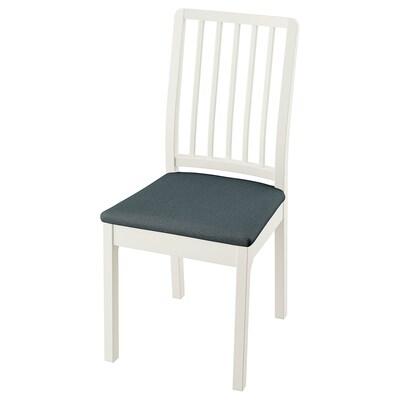 EKEDALEN Chair, white/Idekulla blue