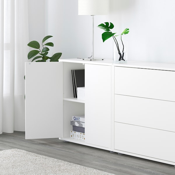 EKET Cabinet combination with feet, white, 280x35x72 cm