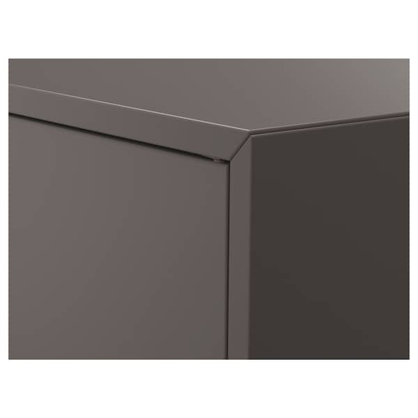 EKET Cabinet w 2 doors and 1 shelf, dark grey, 70x35x70 cm