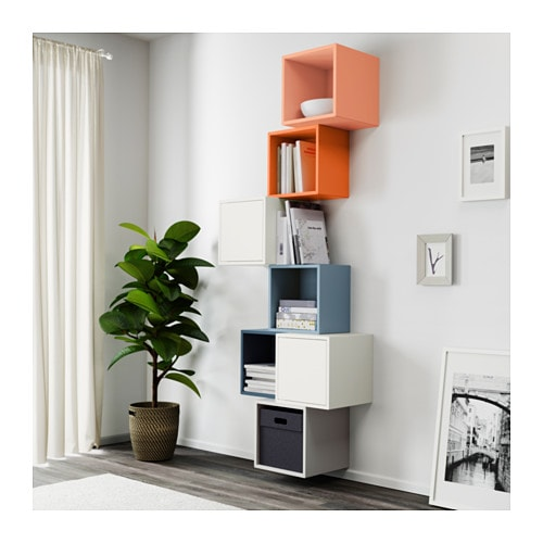 EKET Wall-mounted cabinet combination IKEA An asymmetrical storage solution that becomes personally yours when filled with your belongings.