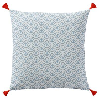 ELDGULDVINGE Cushion, blue, 50x50 cm