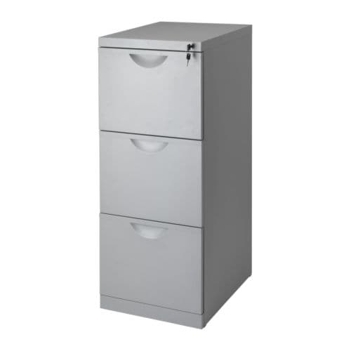ERIK File cabinet   Drawers for drop files make it easy to sort and store your papers.  All three drawers are lockable.