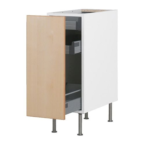 Faktum base cabinet with pull out storage nexus birch for 50cm kitchen cabinets