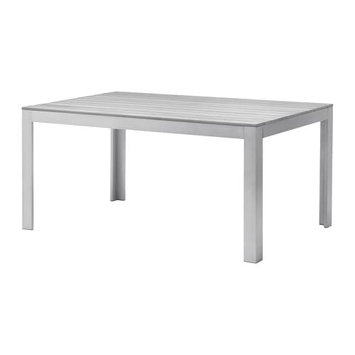 FALSTER Table, outdoor   The polystyrene slats are weather-resistant and easy to care for.