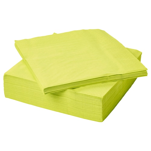 FANTASTISK paper napkin light green 40 cm 40 cm 50 pieces