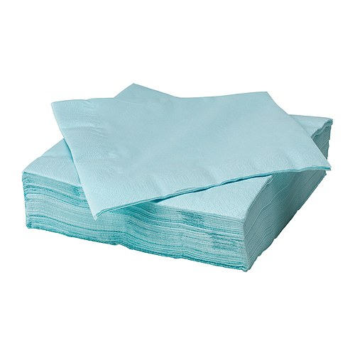 FANTASTISK Paper napkin, light blue Length: 40 cm Width: 40 cm Package quantity: 50 pieces