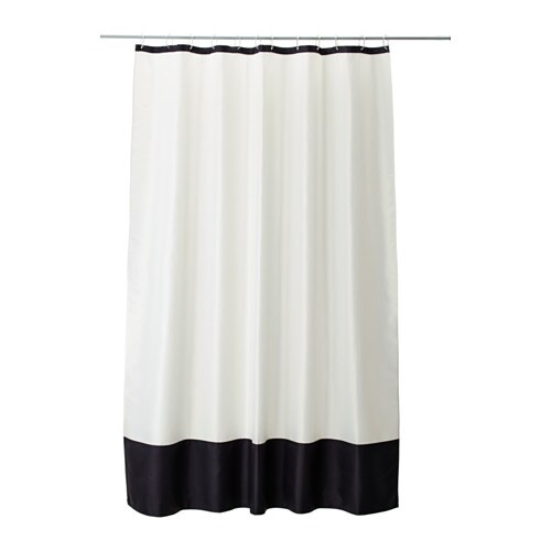 FÄRGLAV Shower curtain   Densely-woven polyester fabric with water-repellent coating.