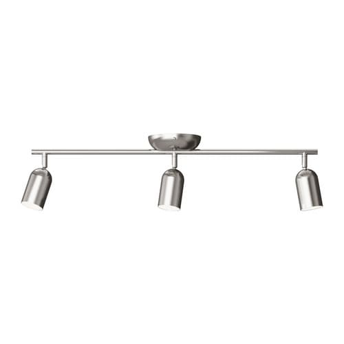 FARKOST Ceiling track for 3 lamps   Adjustable spotlights.