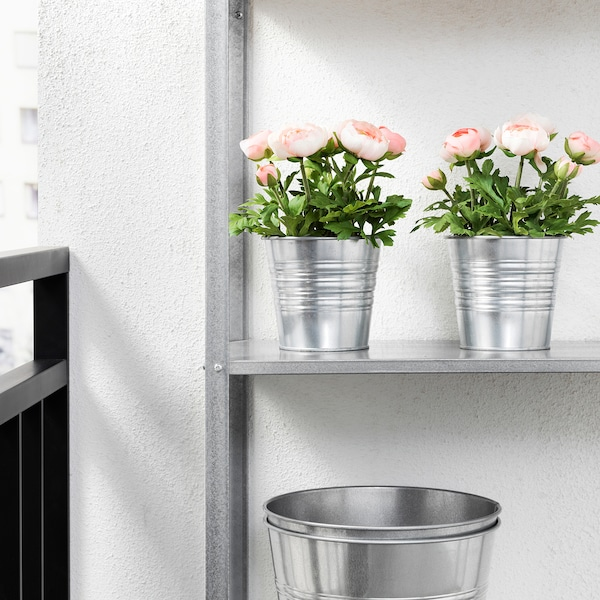FEJKA artificial potted plant in/outdoor/Ranunculus pink 12 cm 25 cm