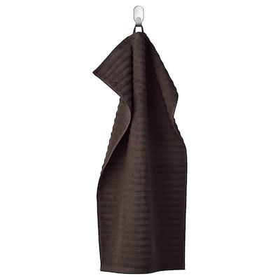 FLODALEN Hand towel, dark brown, 40x70 cm