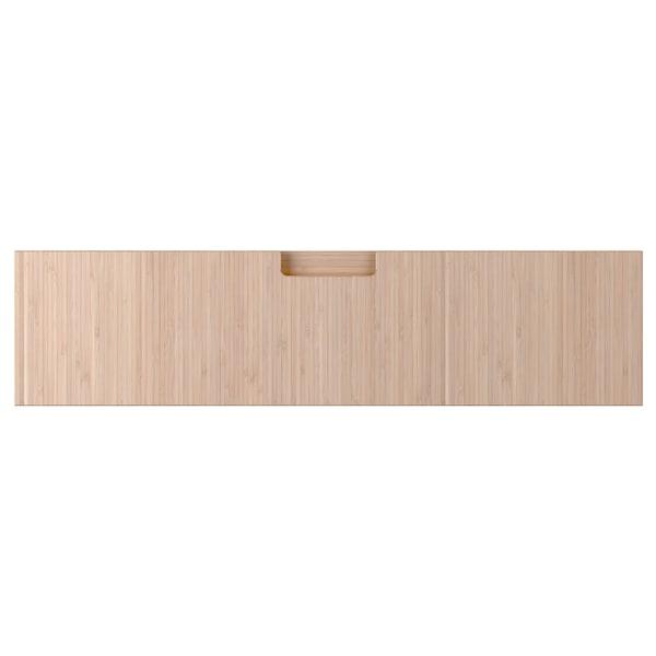 FRÖJERED Drawer front, light bamboo, 80x20 cm
