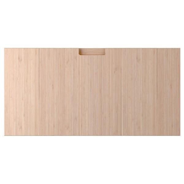 FRÖJERED Drawer front, light bamboo, 80x40 cm