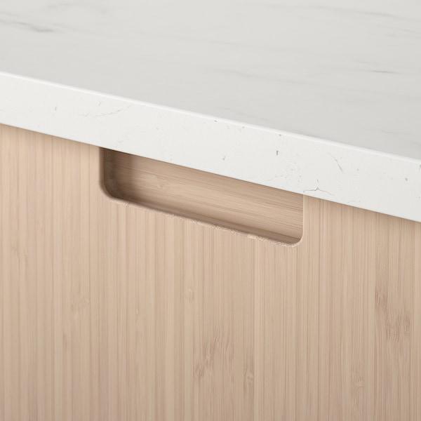 FRÖJERED Drawer front, light bamboo, 60x40 cm