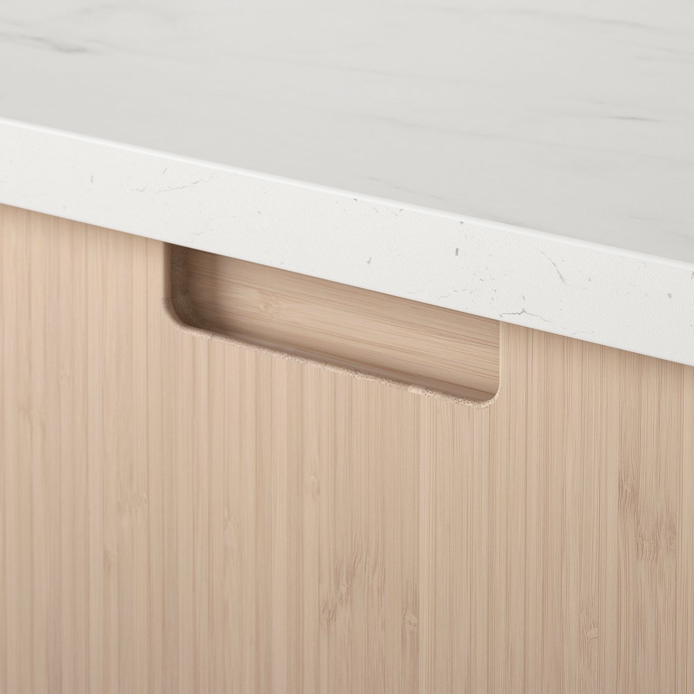 FRÖJERED Drawer front, light bamboo, 60x20 cm