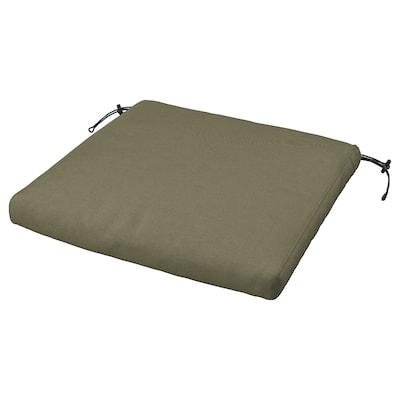 FRÖSÖN/DUVHOLMEN Chair cushion, outdoor, dark beige-green, 50x50 cm
