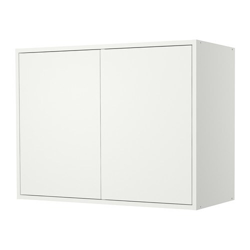 FYNDIG Wall cabinet with doors   You can customise your storage using 2 adjustable shelves.