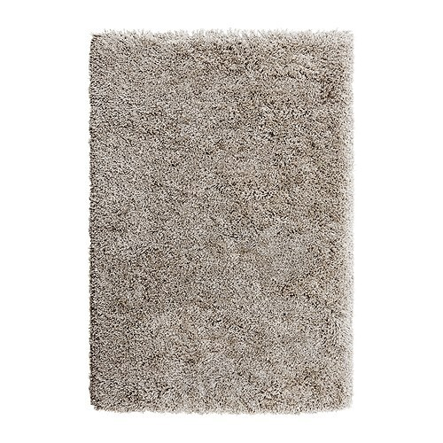 GÅSER Rug, high pile   The high pile dampens sound and provides a soft surface to walk on.
