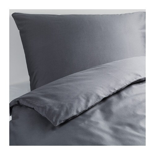 GÄSPA Quilt cover and 2 pillowcases   The combed cotton gives the bedlinen an extra smooth and even surface which feels soft against your skin.