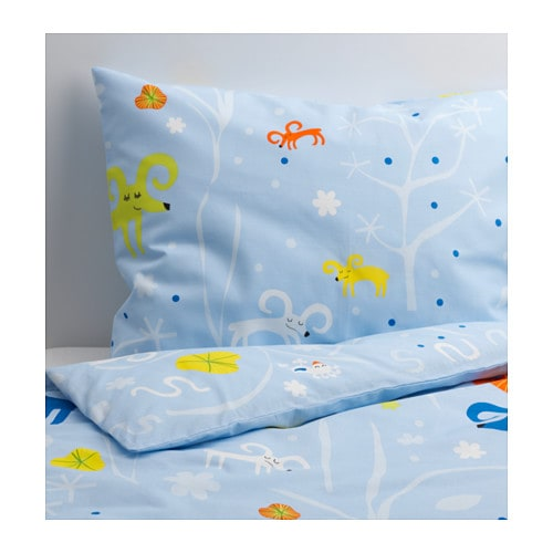 GETTER Quilt cover and pillowcase   Cotton, soft and nice against your child's skin.