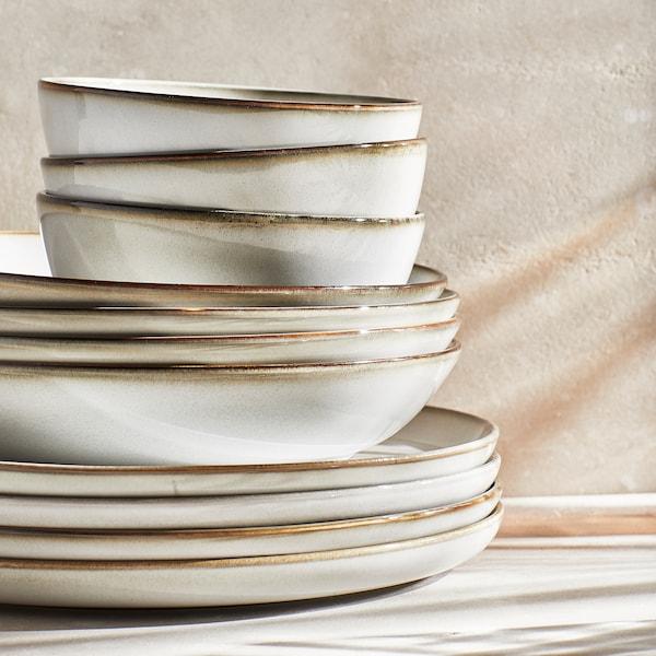 GLADELIG Plate, grey, 25 cm