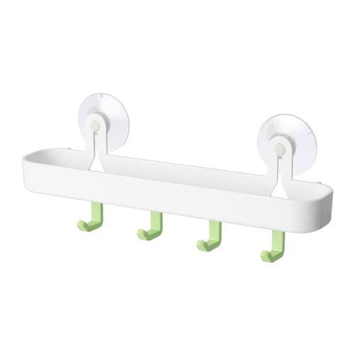 glmsta tray with 4 hooks and suction cup ikea with suction cups that grip smooth surfaces