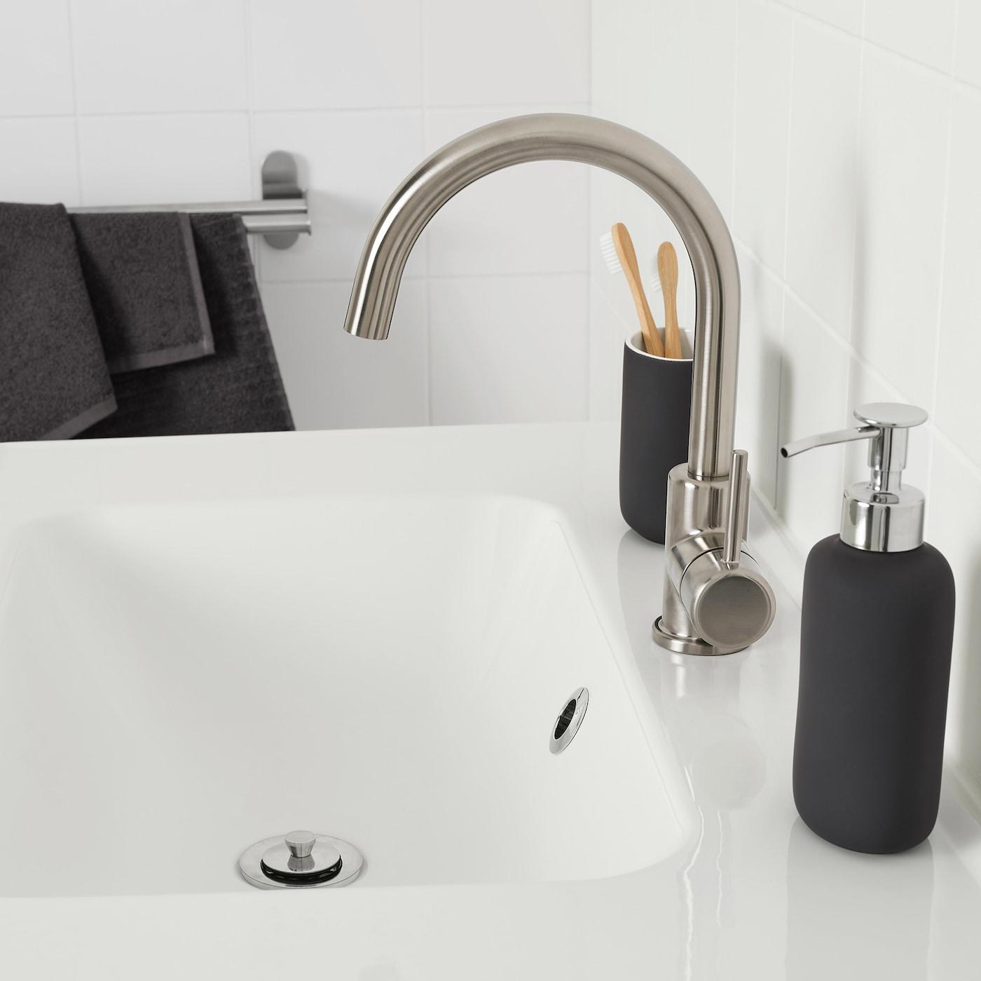 GLYPEN Mixer tap, stainless steel effect