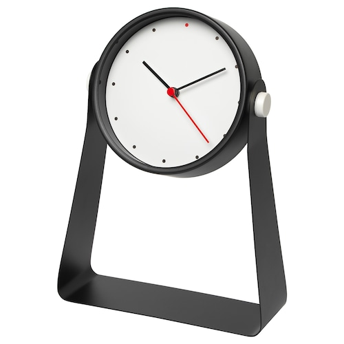 GNISSLA table clock black 6.5 cm 19 cm 26 cm