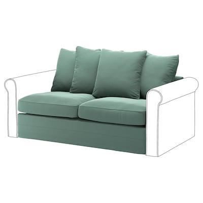 GRÖNLID 2-seat sofa-bed section, Ljungen light green