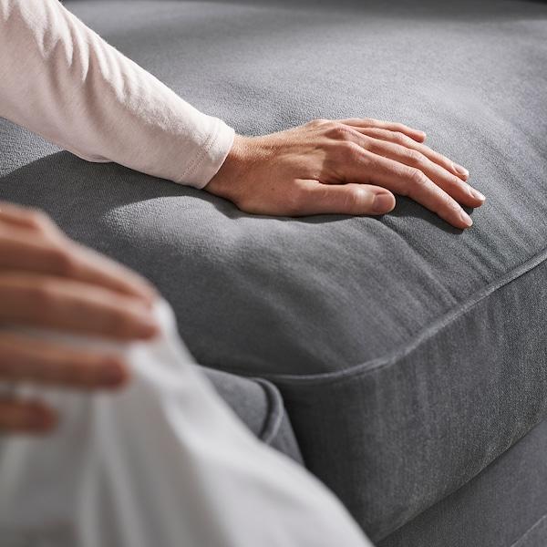 GRÖNLID 3-seat sofa-bed, with chaise longue/Ljungen medium grey