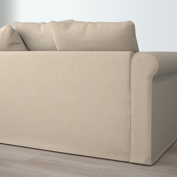 GRÖNLID 3-seat sofa, with chaise longue/Sporda natural