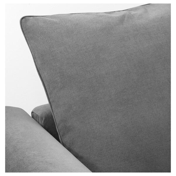 GRÖNLID Corner sofa, 3-seat, with open end/Ljungen medium grey