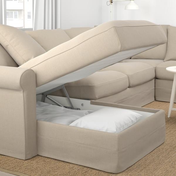 GRÖNLID corner sofa, 5-seat with chaise longue/Sporda natural 104 cm 164 cm 98 cm 126 cm 252 cm 333 cm 7 cm 18 cm 68 cm 60 cm 49 cm