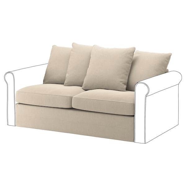 GRÖNLID Cover for 2-seat sofa-bed section, Sporda natural