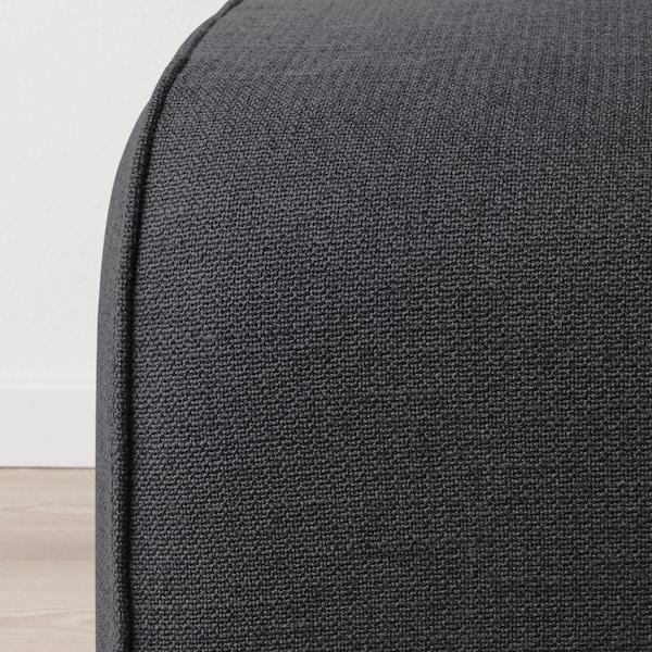 GRÖNLID footstool Sporda dark grey 57 cm 47 cm 38 cm