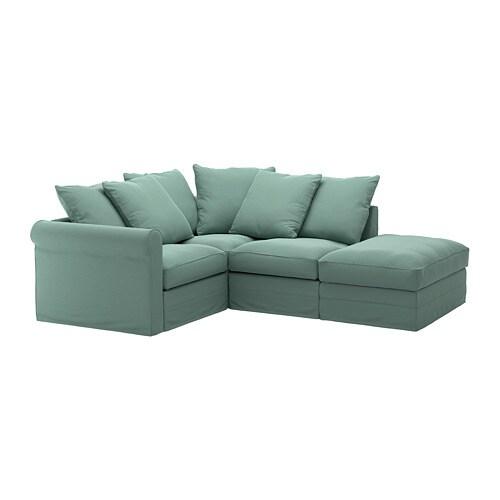 Gronlid Corner Sofa 3 Seat With Open End Ljungen Light Green Ikea