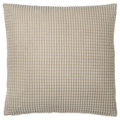 GULLKLOCKA Cushion cover, beige, 50x50 cm