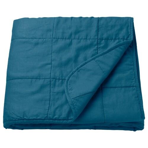 GULVED bedspread dark blue 250 cm 260 cm