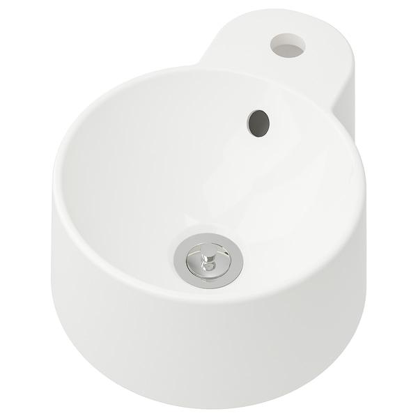GUTVIKEN Countertop wash-basin, white, 29x39 cm