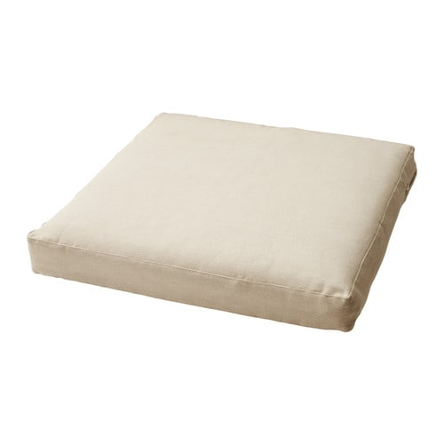 HÅLLÖ Cushion   Easy to keep clean; removable and washable cover.  Reversible; two sides to use.