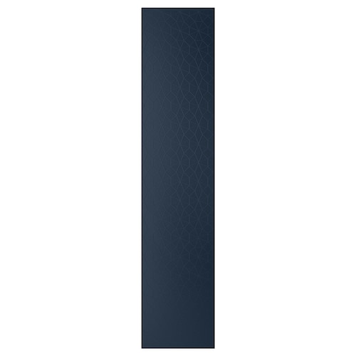 HAMNÅS door with hinges black-blue 49.5 cm 229.4 cm 236.4 cm 1.6 cm