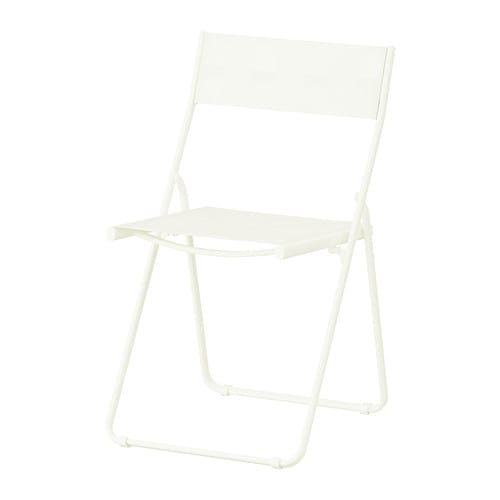 HÄRÖ Folding chair   Foldable; saves space when stored or not in use.  The materials in this outdoor furniture require no maintenance.