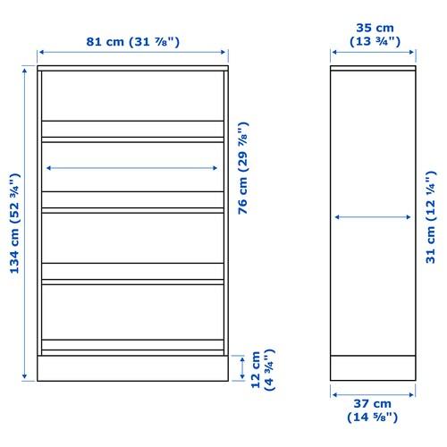 HAVSTA Shelving unit with plinth, grey, 81x37x134 cm