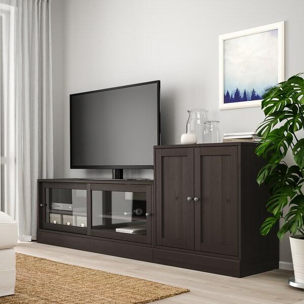 HAVSTA TV storage combination, dark brown, 241x47x89 cm