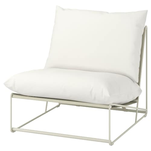 HAVSTEN easy chair, in/outdoor beige 83 cm 94 cm 90 cm 62 cm 42 cm