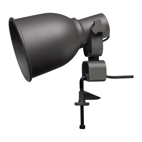 HEKTAR Wall/clamp spotlight   Flexible lighting; clamp the lamp to a shelf or windowsill to direct light exactly where you need it.