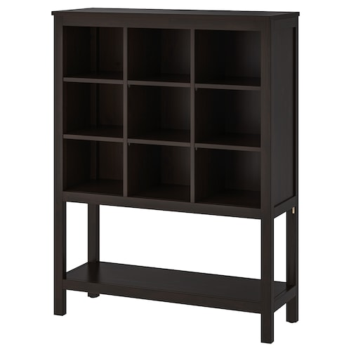 HEMNES storage unit black-brown 99 cm 37 cm 130 cm