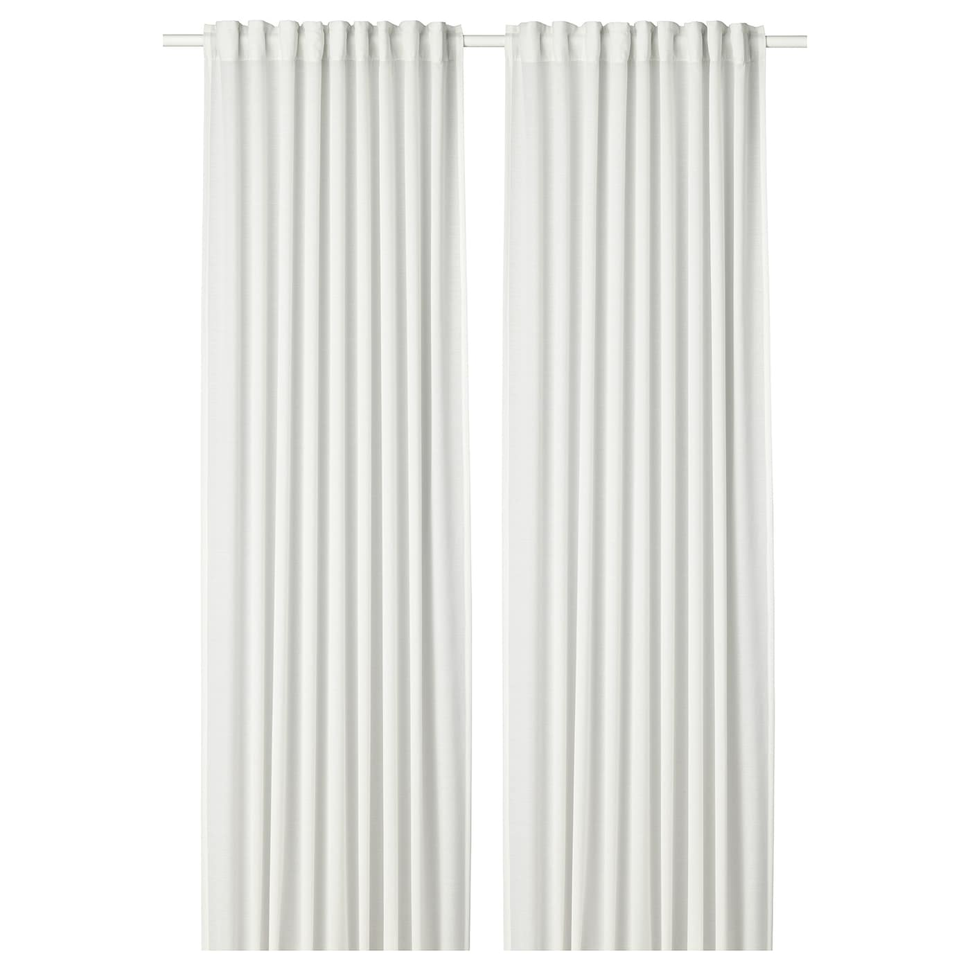 Hilja Curtains 1 Pair White Ikea